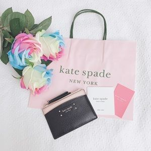 BNWT Kate Spade leather card wallet and coin purse
